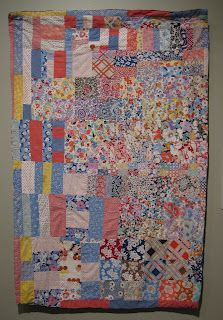Crib Quilt, Unknown, ca. 1945.  From Heart to Hand: African American Quilts Exhibit at the BYU Museum of Art.