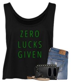 """""""I'm not lucky, I'm blessed"""" by your-daily-prep ❤ liked on Polyvore featuring Hollister Co., MICHAEL Michael Kors, Jack Rogers and Kendra Scott"""