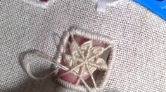 How I make edelweiss stitch,hardanger embroidery.                                                                                                                                                      More