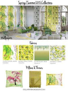 2015 Spring Home Décor, Spring home decor ideas, Spring 2015 interior design trends, Home decor wallpaper, Home decor fabrics Designers Guild, Shanghai Garden, www.stellarinteriordesign.com/new-spring-home-fabrics-wallpapers/