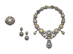 A Necklace With Its Earrings and Broach That Once Belonged to HIH Princess Neslishah Sultan Osmanoglu of Turkey and Egypt. | by Kelisli