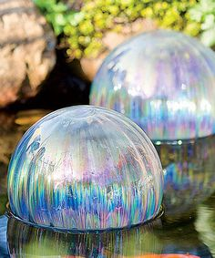 Look at this Floating Glass Globe - Set of Two on #zulily today!