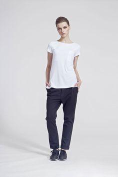 IMRECZEOVA SS16 white top with pockets