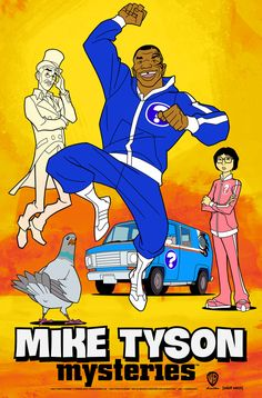 """I'm character designing a show called """"Mike Tyson Mysteries"""" that premiers on Adult Swim Monday, October at p. Mike Tyson Mysteries, Deep Space 9, The Mike, Silver Age, Episode 5, Season 2, Cartoon Characters, Favorite Tv Shows, Movie Tv"""