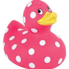 a pink polka dot duck!!