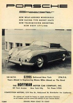 Max Hoffman Porsche ad from the 50's.