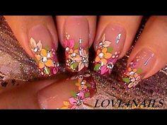 Arte de Uñas ♥ Flores para el Otoño ♥ Tutorial - YouTube