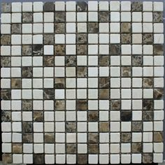 "3/4""x3/4"" Mix Marble Mosaic Tumbled Marble Tile"