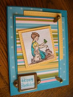 FS216 Frogs & Snails Birthday by stampin'nana - Cards and Paper Crafts at Splitcoaststampers