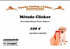 Mañana comienza el Curso de Método clicker #AnimalotsMallorca. Aún estás a tiempo: 650 164 246   Si te gusta, compártelo!