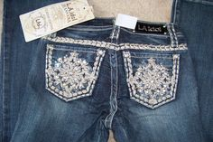 NWT Cello designer jeans boot cut All rivet stones, embellished style. – countryliving37