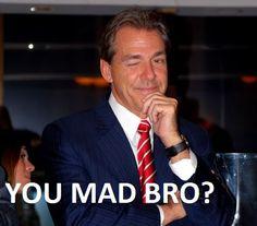 Alabama Football Oh Nick Saban :)