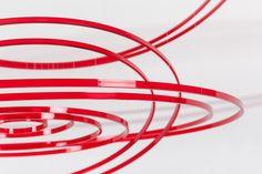 Circuconcéntricos rojo transparente (2013). The Brillembourg Capriles Collection of Latin American Art © Elias Crespin.