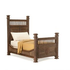 Bed Twin #4204 shown in Natural Finish (on Bark)