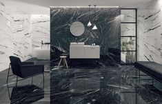 Shop Barana for the largest selection of black and white marble floor, marble brick tiles and marble like tile for any project. Free sample on all tiles. Boutique Interior, Brick Tiles, Wall Tiles, Tiles R Us, Showroom, Ceramic Tile Bathrooms, Porcelain Tiles, Black And White Marble, Marble Floor