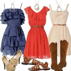 I think all of these would look better with cowgirl boots!!