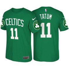 2017 NBA Draft Boston Celtics #11 Jayson Tatum Green Name & Number T-Shirt