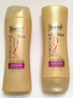 Suave Professionals Moroccan Infusion Color Care Set: Shampoo and Conditioner 12.6oz.