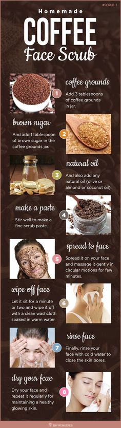 Homemade Natural Face Coffee Scrub - Tap on the link to see the newly released collections for amazing beach bikinis! :D http://beautifulclearskin.net/arabica-coffee-scrub-from-majestic/