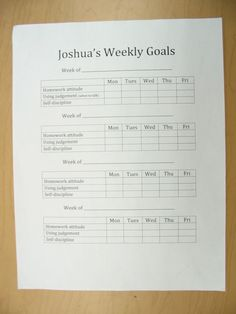 This is a self-evaluation sheet one student created to help him reach the goals he set at his November parent conference. He used a scale to assess himself each day for each goal. Teaching Career, Thing 1, Self Discipline, Character Development, Social Skills, Assessment, Conference, November, Parenting