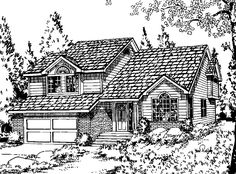 Really cool and different floor plan! love it! Eplans Split Level House Plan - Three Bedroom Split Level - 1930 Square Feet and 3 Bedrooms(s) from Eplans - House Plan Code HWEPL59851