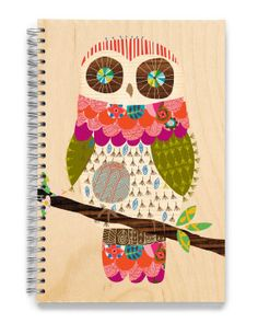 Little art students will enjoy drawing in this Wooden Owl sketchbook by Ecojot - eco savvy paper products. Small Sketchbook, Wooden Owl, Paper Owls, Collage, Owl Art, Pretty Birds, Cute Owl, Illustrations, Art Journal Pages