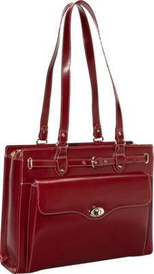 16.5 x 12.5 x 4.5  McKlein USA Joliet Leather Laptop Tote EXCLUSIVE Red - via eBags.com!