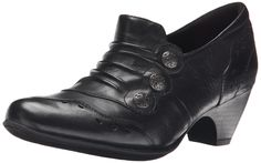 Rockport Cobb Hill Women's Denise Dress Pump, Black, 8.5 W US. Updated dress collection with a demi wedge heel. Shoes so comfortable you forget that you are in a heel. Comfort ethylene vinyl acetate insole with extra cushioning. Soft leather uppers. Heel height 2.
