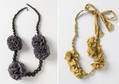 Felt anthropologie inspired necklace tutorial  This would make a wonderful gift for my teen daughter