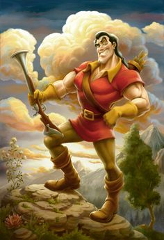 This Portrait of Gaston Will Serve as a Main Piece of Artwork in Gaston's Tavern in New Fantasyland at Magic Kingdom Park.