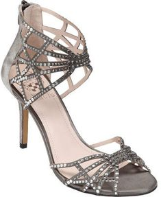 5138c16cbf2 Vince Camuto Women s Wari - Glitter Grey Satin Strappy Shoes