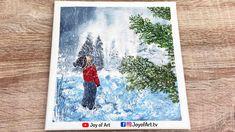 Winter Wonder   Acrylic Painting   Winter Art   Joy of Art #188 Painting Snow, Acrylic Painting Canvas, Painting & Drawing, Winter Wonder, Winter Art, Tube, Joy, Drawings, Glee