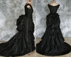 Gothic Victorian Bustle Gown with Train by Alice-Corsets on DeviantArt