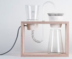 Coffee Cooker by Aija Hannula. Concepts for coffee machine by Helsinki's Aalto University Collaborative and Industrial Design students. Coffee Machine Design, Coffee Making Machine, Coffee Design, Coffee Machines, Drip Coffee Maker, Coffee Cups, Coffee Dripper, Bunn Coffee, Eco Design