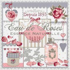 Madame la Fee, Eau de Roses, схема для вышивания крестом, купить, французская…