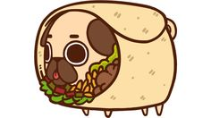 Puglie Burrito is a T Shirt designed by Puglie to illustrate your life and is available at Design By Humans
