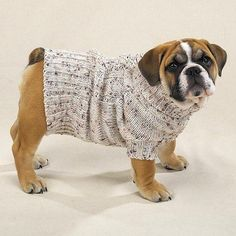 DOG SWEATER - CLASSIC IRISH KNIT DOG SWEATER - TOO COOL - X-LARGE