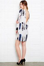 Carin Wester Tiolina Open Back Dress in Fox Print at Urban Outfitters