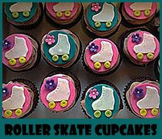 Roller Skate Cupcakes- fun decorating ideas here