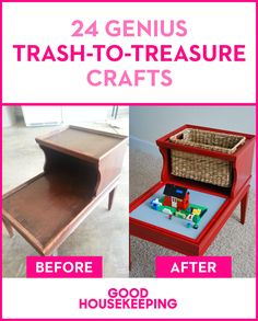 Try out these trash-to-treasure, upcycled DIY crafts.