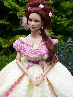 "Monika's Rebecca: ""OOAK Glinda by Cindy Lorimer. Crocheted dress from me."" #dolls #fashion"