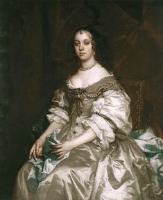 """""""Queen Catherine of Braganza"""" (1665) by Sir Peter Lely"""