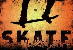 Skateboarding Skate Orange Sports Poster Print at Allposters.com at AllPosters.com