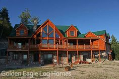 Completed Exterior Blais 5  Photos and floor plans of this custom home are at www.GoldenEagleLogHomes.com  #loghomes #loghome #logcabins #cabin #logcabins #home #homes #houzz #rusticliving #outdoors #nature #loghomeliving #construction