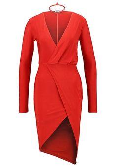 Missguided Sukienka z dżerseju - red - Zalando.pl