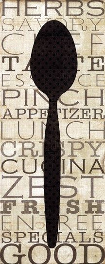 Kitchen+Words+II+at+FramedArt.com