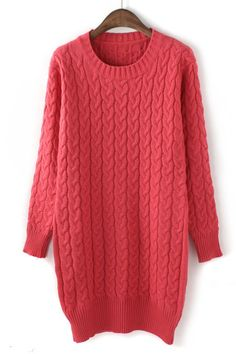 Twisting Wave Sweater Dress Would be cute with leggings and a belt around the waist :)