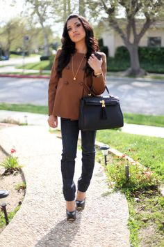 cute jacket, purse and shoes
