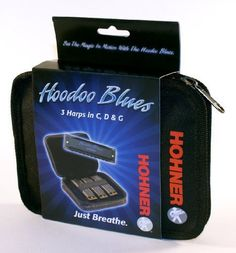 "Hohner HBP Harmonica, Key of C, D and G by Hohner. $10.54. If you want to play the Blues the Hoodoo Blues harmonica set has what it takes to get you started. Three of the most popular keys of harmonica packaged in a handy zippered carrrying case gives anyone what they need to kick-off their Blues career. Connecting with the ever popular term ""Hoodoo Man"" used in many old Blues tunes depicting a folk-magician or ""conjurer"" Hohner keeps the spirit of the Blues a..."