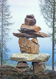 Inukshuk....stone cairn by Istvan Hernadi  xtremepeaks